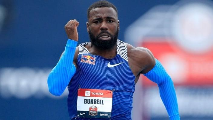 Star sprinter Cameron Burrell, shown running in the opening round of the 100-meter race during the 2019 USATF Outdoor Championships in 2019, has died at 26. (Photo by Andy Lyons/Getty Images)