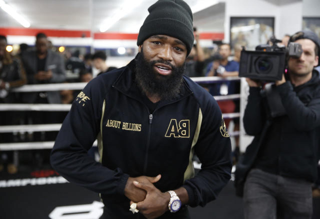 Former four-division world champion Adrien Broner will challenge WBA Welterweight World Champion Manny Pacquiao on Jan. 19, 2019, in Las Vegas. (AP Photo)