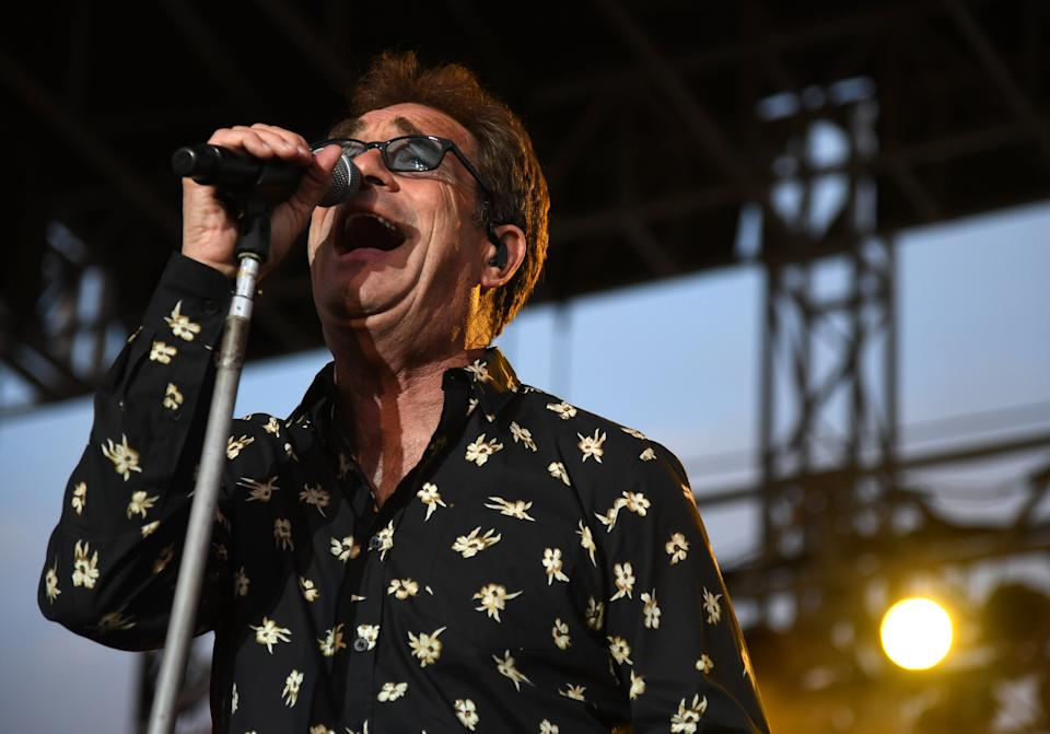 Jan 19, 2018; La Quinta, CA, USA;  Huey Lewis  (Hugh Anthony Cregg III) of Huey Lewis And The News performs after the second round of the CareerBuilder Challenge golf tournament at PGA West. Mandatory Credit: Joe Camporeale-USA TODAY Sports