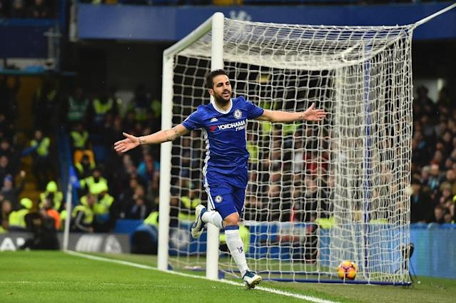 """""""We have character. We can bounce back at anything that comes in front of us,"""" said Chelsea's Spanish midfielder Cesc Fabregas (AFP Photo/Glyn KIRK )"""