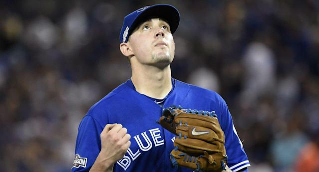 Aaron Sanchez keeps Blue Jays in ALCS with great Game 4 start. (AP)