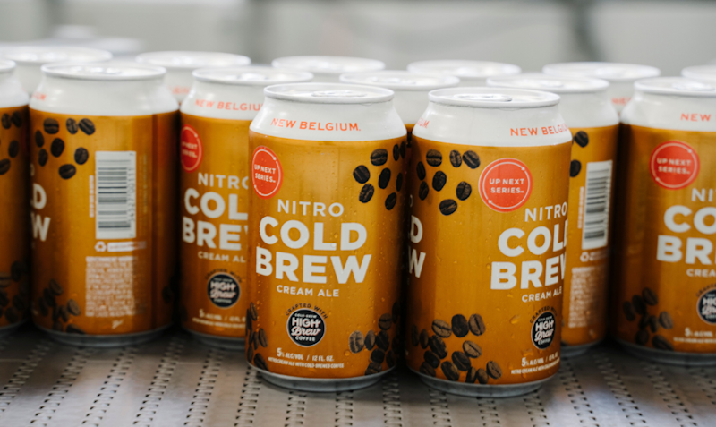 Nitro Cold Brew Cream Ale made by to Austin's High Brew Coffee and New Belgium