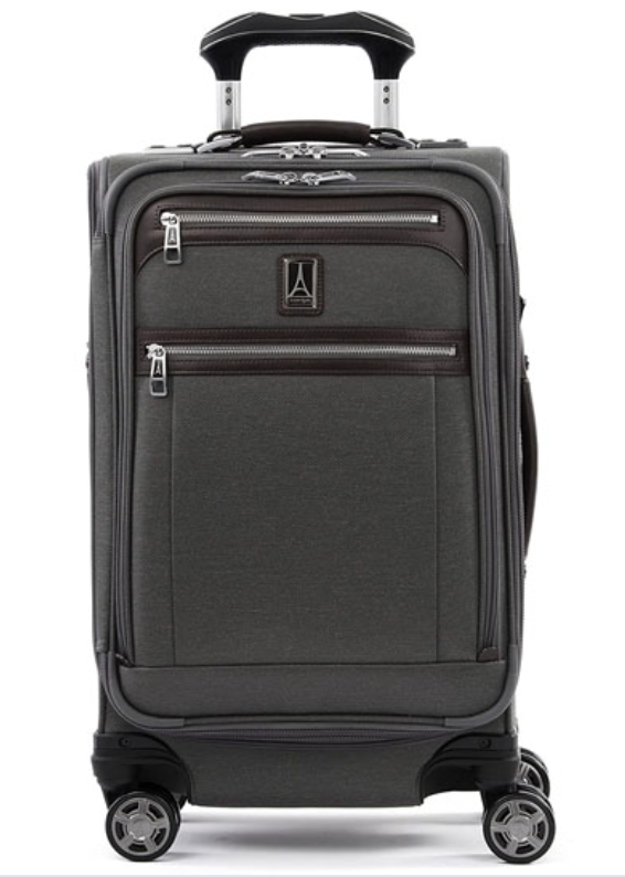 The Travelpro Platinum Elite Softside Expandable Spinner suitcase is handsome, handy — and on sale! (Photo: Amazon)