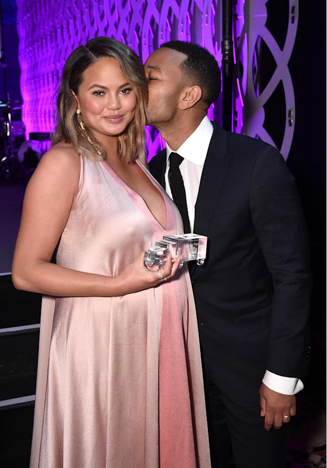 Chrissy Teigen and John Legend made the scene at Wednesday's City Harvest Gala. (Photo: Bryan Bedder/Getty Images for City Harvest)