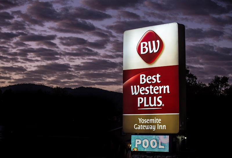 OAKHURST, CA - OCTOBER 7: The exterior of the Best Western Plus hotel outside Yosemite National Park is viewed in the early morning hours of October 7, 2019, in Oakhurst, California. With the arrival of fall, the tens of thousands of monthly visitors begins to drop off but the usual weekend traffic congestion and on-going road construction projects continue to provide challenges for getting around in the Park. (Photo by George Rose/Getty Images)