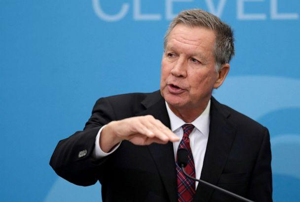PHOTO: John Kasich speaks at The City Club of Cleveland, in Cleveland, Dec. 4, 2018. (Tony Dejak/AP, FILE)