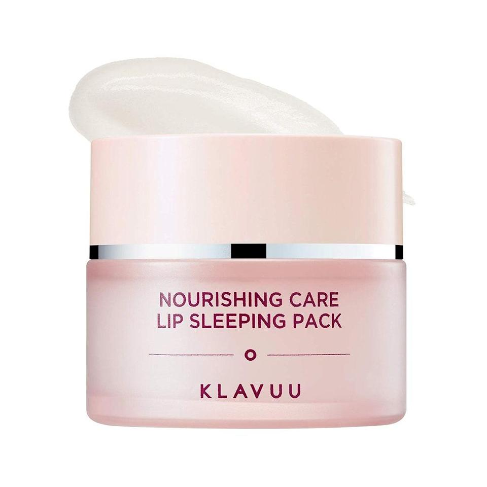 "Infused with a yummy vanilla scent, Klavuu's Nourishing Care Lip Sleeping Pack ensures that <a href=""https://www.allure.com/gallery/best-lip-mask?mbid=synd_yahoo_rss"" rel=""nofollow noopener"" target=""_blank"" data-ylk=""slk:dry, cracked lips"" class=""link rapid-noclick-resp"">dry, cracked lips</a> are a part of your past. A harmonious trio of avocado, sweet almond, and apricot seed oils softens dead skin cells, prevents moisture loss, and leaves lips super smooth. Apply a thick layer before bed or wear it during the day as a heavy-duty lip balm. $13, Amazon. <a href=""https://www.amazon.com/KLAVUU-Nourishing-Care-Sleeping-Pack/dp/B07N53XT2T"" rel=""nofollow noopener"" target=""_blank"" data-ylk=""slk:Get it now!"" class=""link rapid-noclick-resp"">Get it now!</a>"