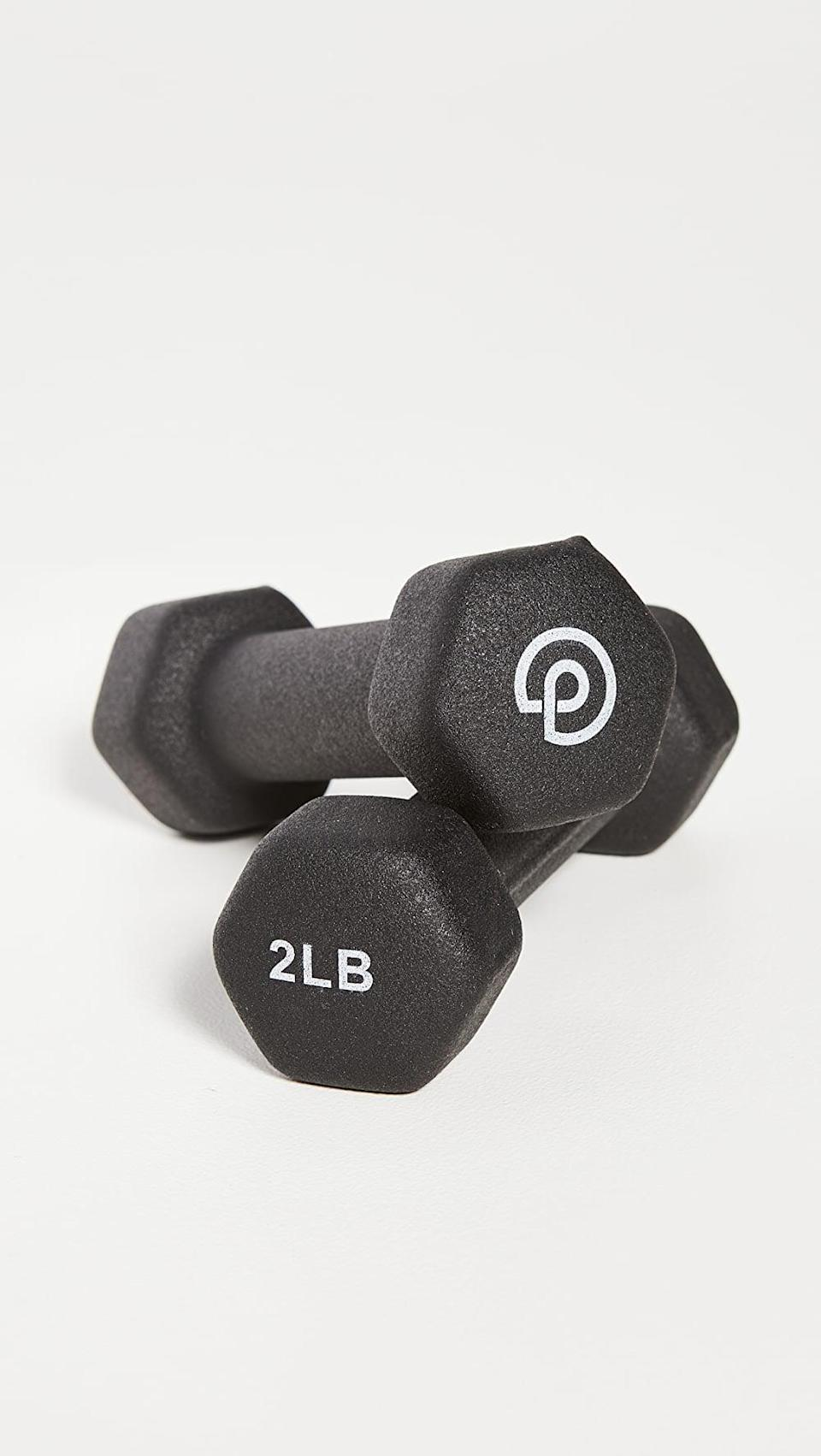 <p>When you want to get in a quick workout, reach for these <span>P.volve 2lb Hand Weights</span> ($10, originally $20 for two). They're a great addition to your home gym setup.</p>