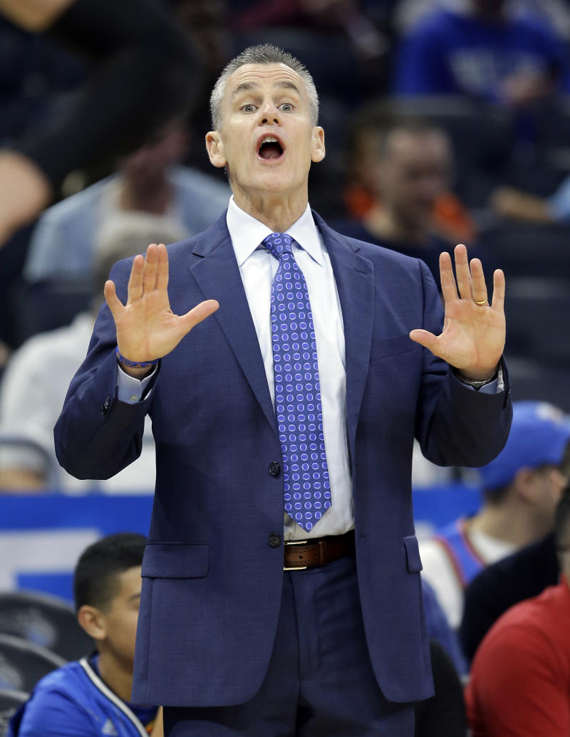 Billy Donovan thinks we should slow down a little before changing the Thunder's starting five. (AP)