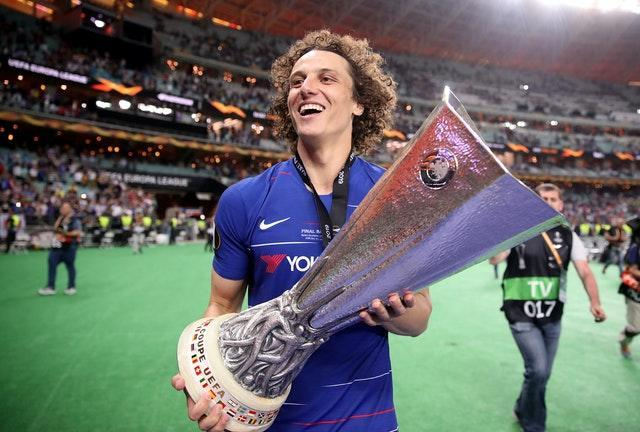 David Luiz lifted the Europa League in his final game for Chelsea - with a win over current club Arsenal.
