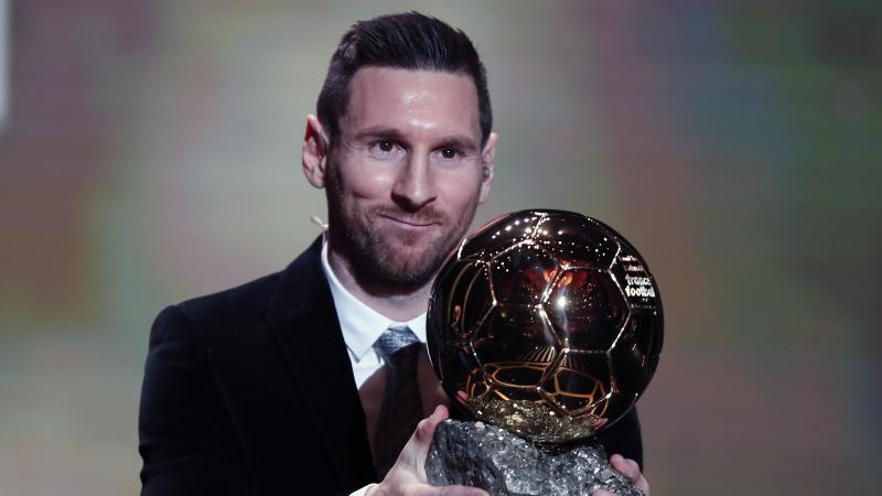 Messi wins Ballon d'Or for record sixth time
