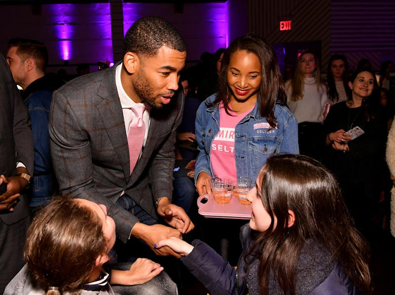 Mike Johnson and Smirnoff kick it with fans as they watch the latest episode of The Bachelor and quest to find love on January 13, 2020 in Brooklyn, New York.