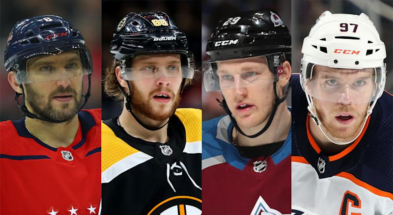 Alexander Ovechkin, David Pastrnak, Nathan MacKinnon and Connor McDavid have all been named captains for the NHL All-Star Game. (Getty Images)