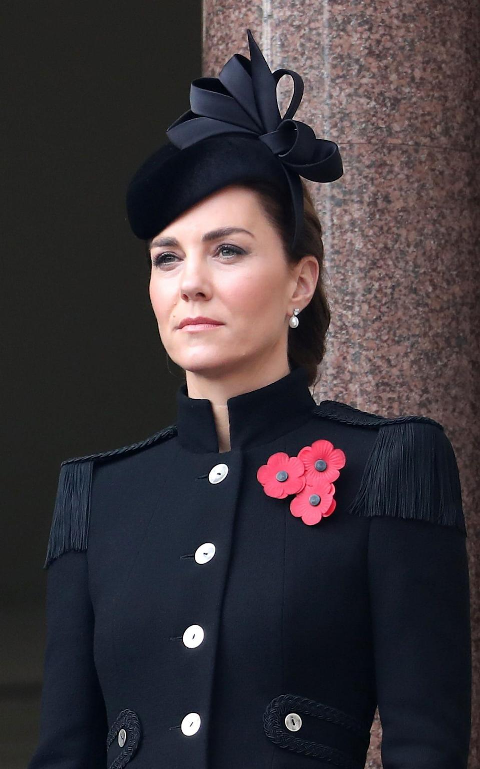 The Duchess of Cambridge alexander mcqueen Service of Remembrance - Getty Images