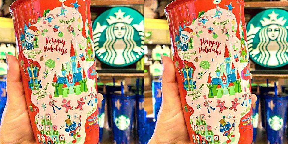 Starbucks Dropped a Disney-Themed Holiday Tumbler and Its All We Want for Christmas