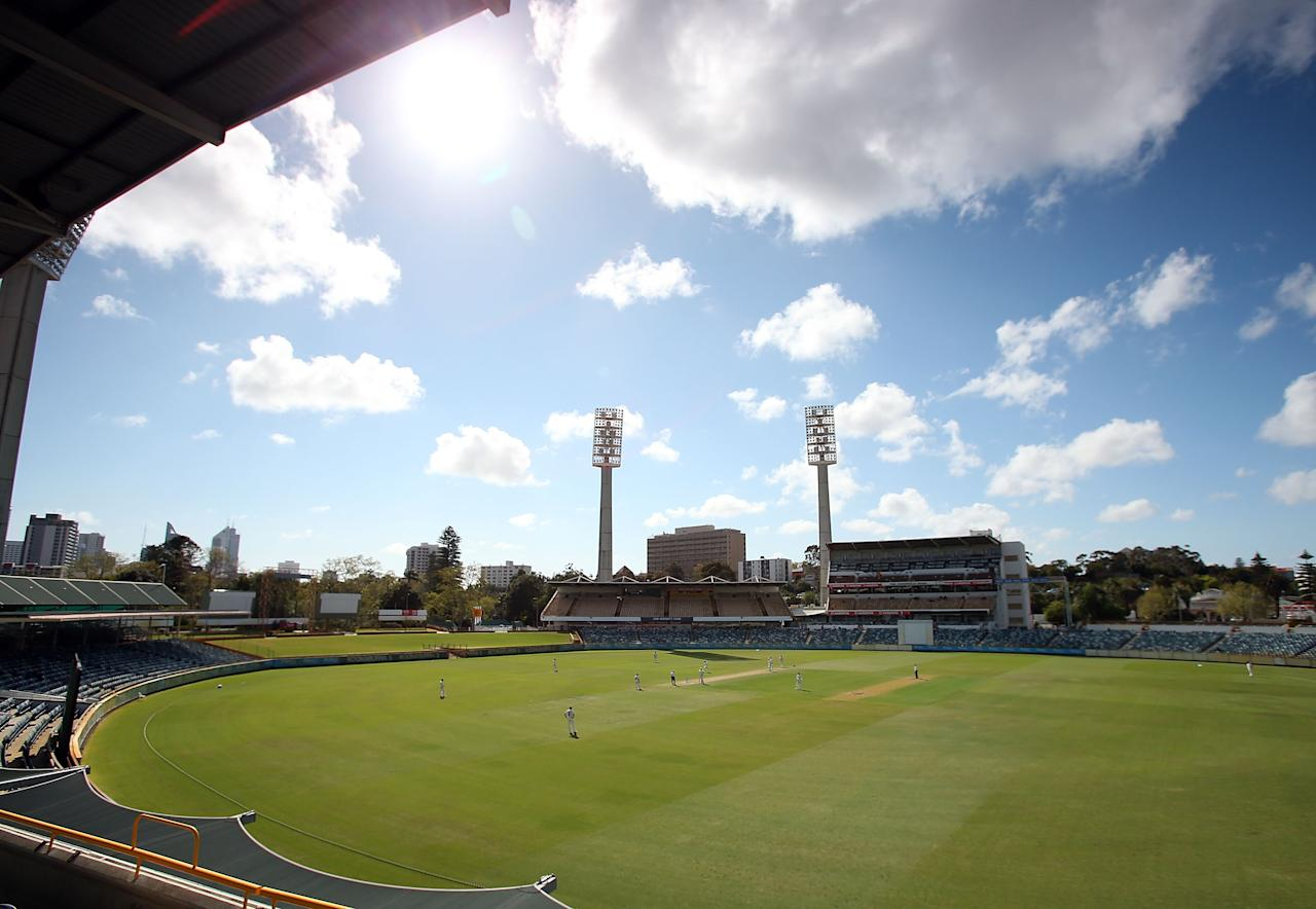 PERTH, AUSTRALIA - SEPTEMBER 20: A general view of play during day three of the Sheffield Shield match between the Western Australia Warriors and the New South Wales Blues at WACA on September 20, 2012 in Perth, Australia.  (Photo by Paul Kane/Getty Images)