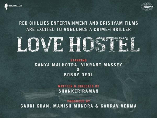 Poster of the film 'LOVE HOSTEL' (Image Source: Twitter)