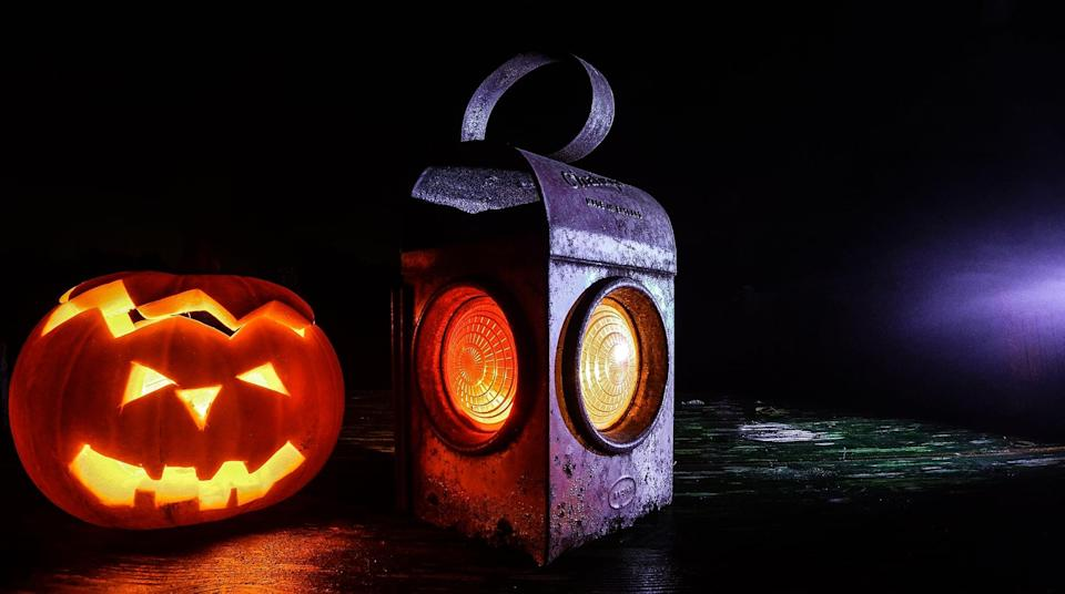 """<p>If you and your guests are <a href=""""https://www.popsugar.com/entertainment/Best-Halloween-Movies-All-Time-45242161"""" class=""""link rapid-noclick-resp"""" rel=""""nofollow noopener"""" target=""""_blank"""" data-ylk=""""slk:horror movie fanatics"""">horror movie fanatics</a>, you won't want to miss out on the fun that comes along with a game of trivia. From classic horror films and scream-fests to scary movies that just hit the box office, the options for trivia quizzes are endless. Plus, there are a ton of <a href=""""https://www.pinterest.com/pin/25543922864674041/?lp=true"""" class=""""link rapid-noclick-resp"""" rel=""""nofollow noopener"""" target=""""_blank"""" data-ylk=""""slk:printable horror movie trivia games"""">printable horror movie trivia games</a> you can download online for free.</p> <p><strong>How to do it while social distancing:</strong> Tell everyone to dress in their best pajamas, pop some popcorn, and get their game faces on. Send each person a link to the printable horror movie trivia game you want to play (or you can make your own and send that out), and get ready to play no matter how far away they might be.</p>"""