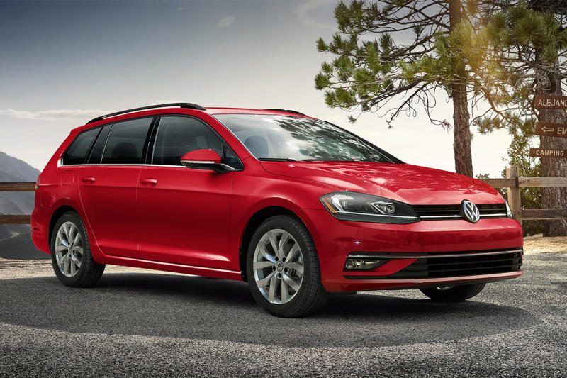 This undated photo provided by Volkswagen shows the Golf SportWagen. The VW Golf SportWagen strikes a good balance between big-car utility and small-car practicality. (Volkswagen of America via AP)