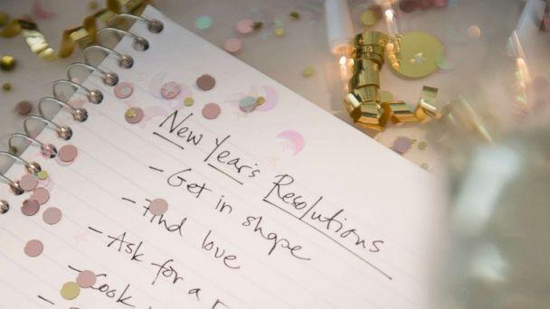 PHOTO: A New Year's resolutions list is written out for the new year in this stock image. (STOCK PHOTO/Getty Images)