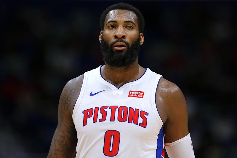 "The Pistons reportedly have ""escalating discussions"" with several teams about a possible trade involving star center Andre Drummond. (Jonathan Bachman/Getty Images)"