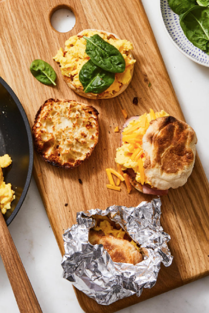 """<p>As if these breakfast sandwiches weren't easy enough to make in the first place, you can make them even easier by prepping them the night before — then you just have to heat them up on New Year's Day.</p><p><em><a href=""""https://www.goodhousekeeping.com/food-recipes/easy/a28639047/make-ahead-egg-and-cheese-sandwich-recipe/"""" rel=""""nofollow noopener"""" target=""""_blank"""" data-ylk=""""slk:Get the recipe for Make-Ahead Egg and Cheese Sandwiches »"""" class=""""link rapid-noclick-resp"""">Get the recipe for Make-Ahead Egg and Cheese Sandwiches »</a></em></p>"""