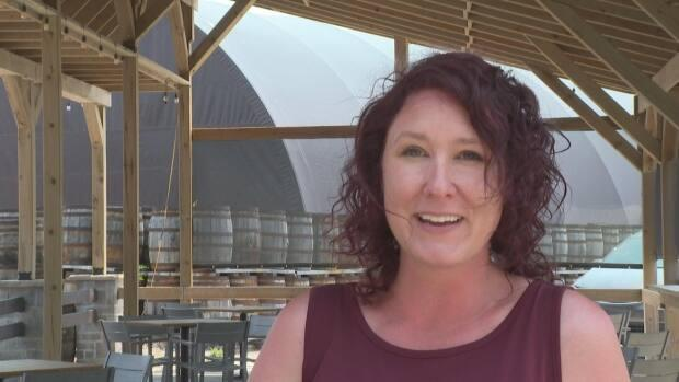 Danielle Moldovan is the marketing and events co-ordinator at Wolfhead Distillery in Amherstburg. She said clients have come from elsewhere in Ontario, and even out of province.  (Jacob Barker/CBC - image credit)