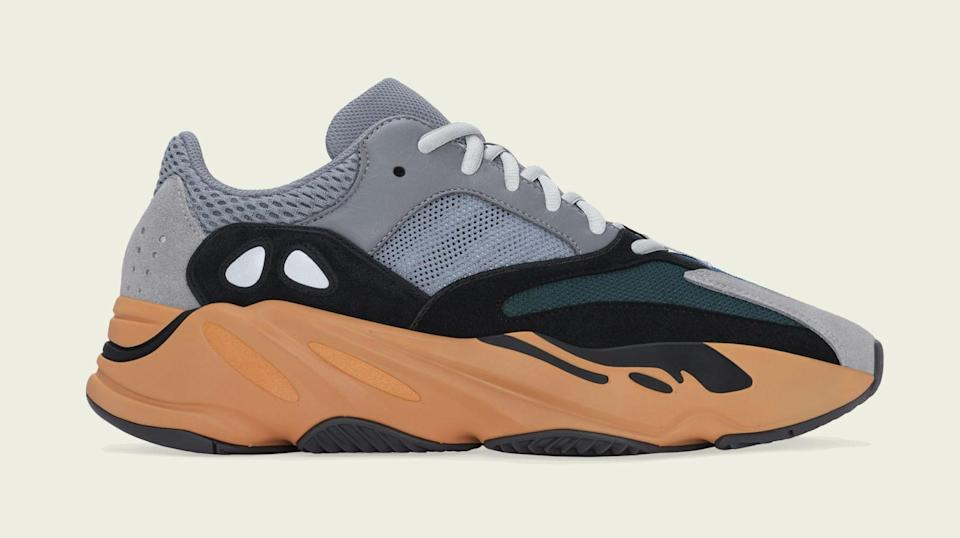 """The lateral side of the Adidas Yeezy Boost 700 """"Wash Orange."""" - Credit: Courtesy of Adidas"""