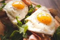 """<p>Egg whites are good, egg yolks are not so good, right? <em>Wrong</em>. """"Egg whites became a thing when egg yolks got demonized for contributing to high cholesterol and heart disease,"""" Jensen says. While egg whites are good for you and full of protein, they don't have the same nutrients as the yolk, which is high in cholesterol and fat. Jensen says they are """"an excellent source of protein and essential vitamins and minerals."""" </p>"""