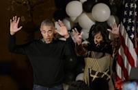 <p>Dancing to Michael Jackson's 'Thriller' at a Halloween event [Photo: Olivier Douliery-Pool/Getty] </p>