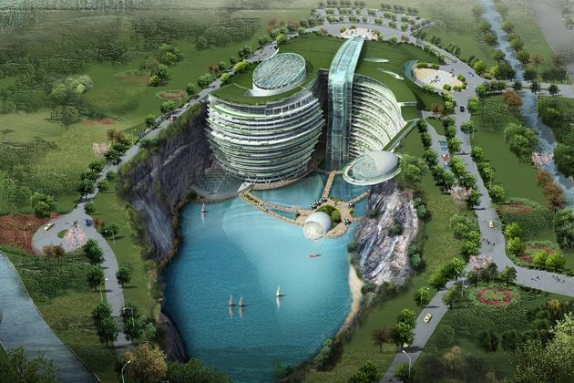 Underground resort in China