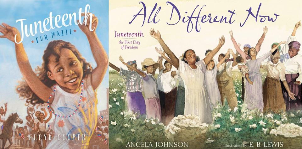 """When it comes to Juneteenth stories for the younger crowd, experts recommend picks like """"Juneteenth for Mazie"""" by Floyd Cooper"""" and """"All Different Now: Juneteenth, the First Day of Freedom"""" by Angela Johnson."""