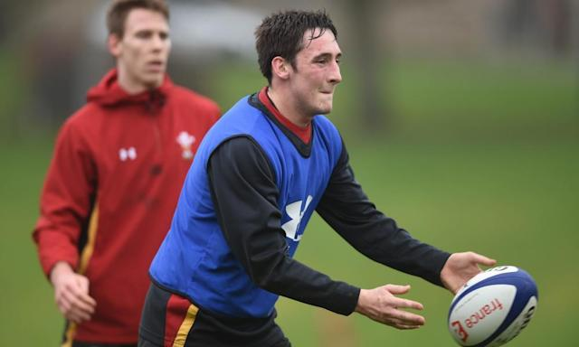 """<span class=""""element-image__caption"""">Sam Davies showed against Italy that he can spark Wales's backline into life, but has been left on the bench since.</span> <span class=""""element-image__credit"""">Photograph: Huw Evans/Rex/Shutterstock</span>"""