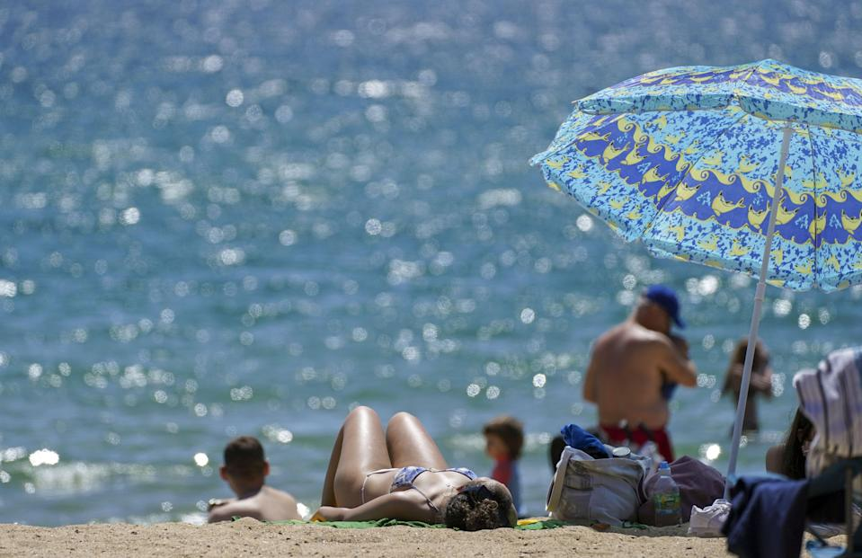 British enjoys the hottest day of the year so far (PA)