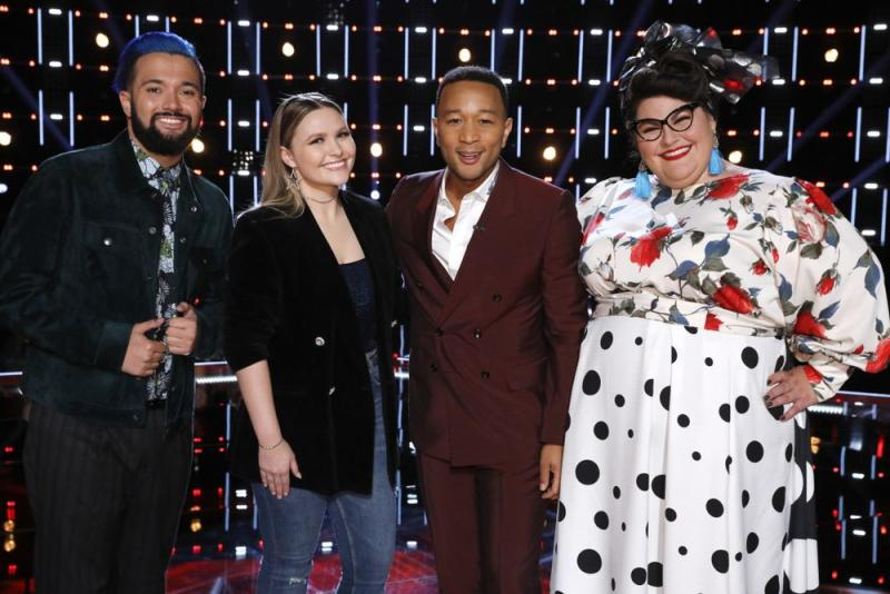 Will Breman, Marybeth Byrd, John Legend and Katie Kadan | Trae Patton/NBC/NBCU Photo Bank via Getty Images