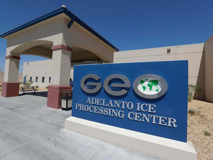 Adelanto US Immigration and Enforcement Processing Center operated by GEO Group in California: AP/Chris Carlson