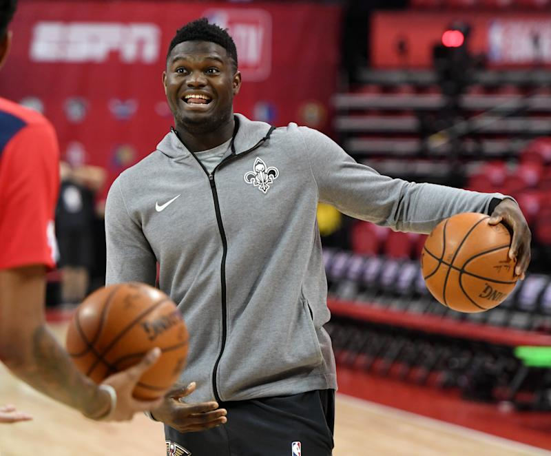 Zion Williamson is already beloved by the city of New Orleans. (Photo by Ethan Miller/Getty Images)