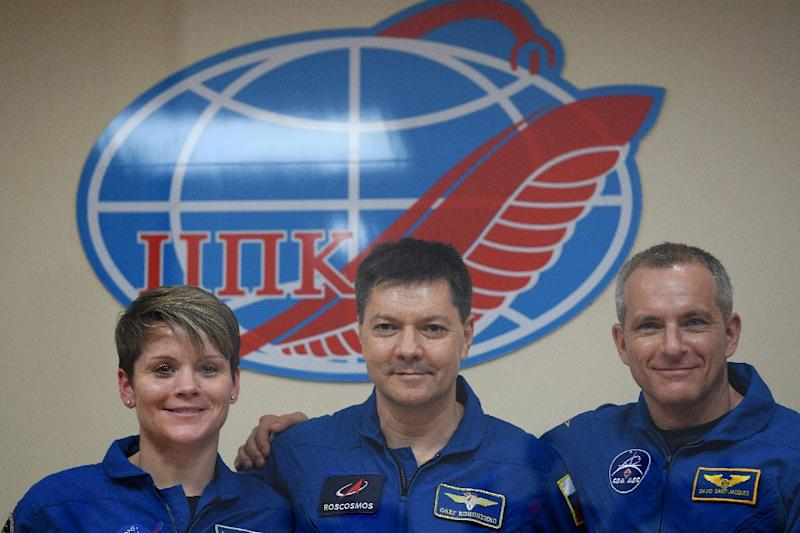 3 astronauts dock safely at International Space Station