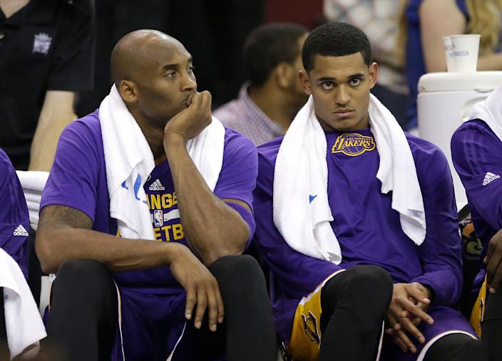 """Jordan Clarkson was teammates with Kobe Bryant during his first two seasons in the NBA and described playing with Bryant as a """"blessing"""" because he provided honest criticism, consistent work habits and willingly shared tips."""""""