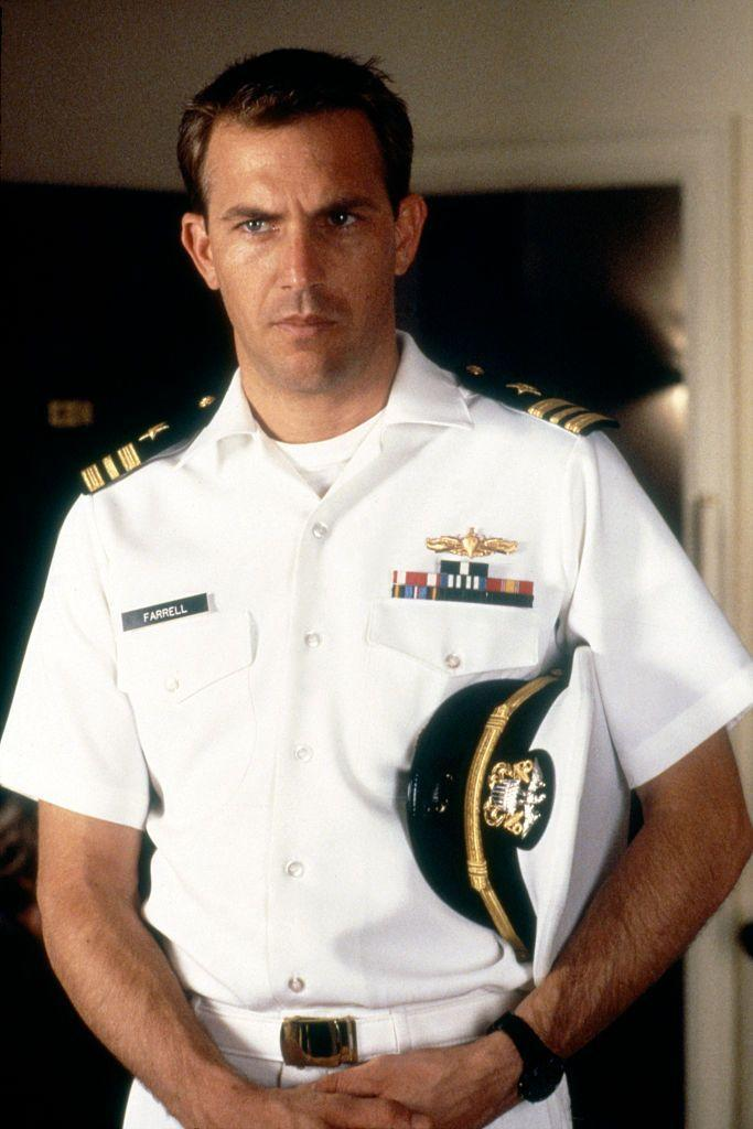 <p>Ooeee, who can resist a man in uniform? This photo was from <em>No Way Out</em>, a thriller which also starred Gene Hackman, Sean Young, and Iman.</p>
