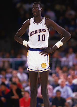 7-foot-7 Manute Bol, the tallest player in NBA history — Getty