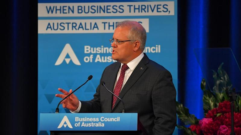 Scott Morrison has urged business leaders to 'make the case for change' in industrial relations