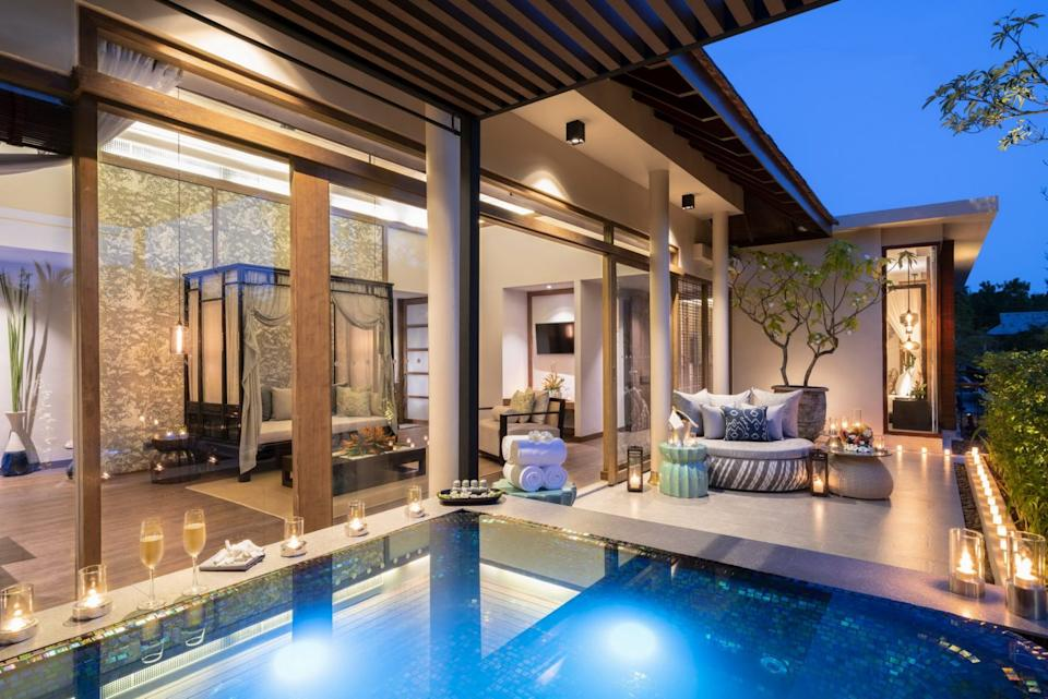 The luxury boutique has rooms that open out onto private gardens and plunge pools. [Photo: The Sarojin]