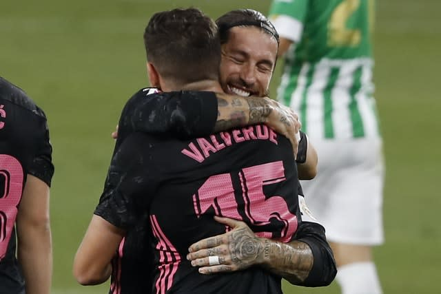 Real Madrid celebrated their first win of the season