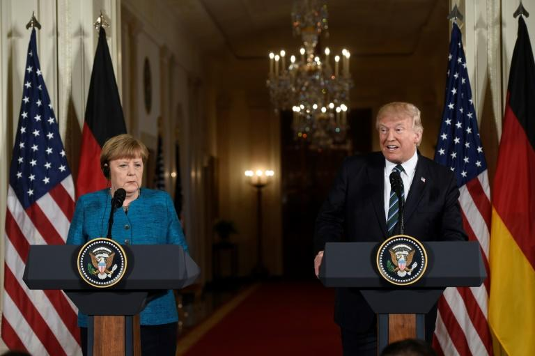 In a frequently awkward joint press conference, US President Donald Trump and German Chancellor Angela Merkel showed little common ground