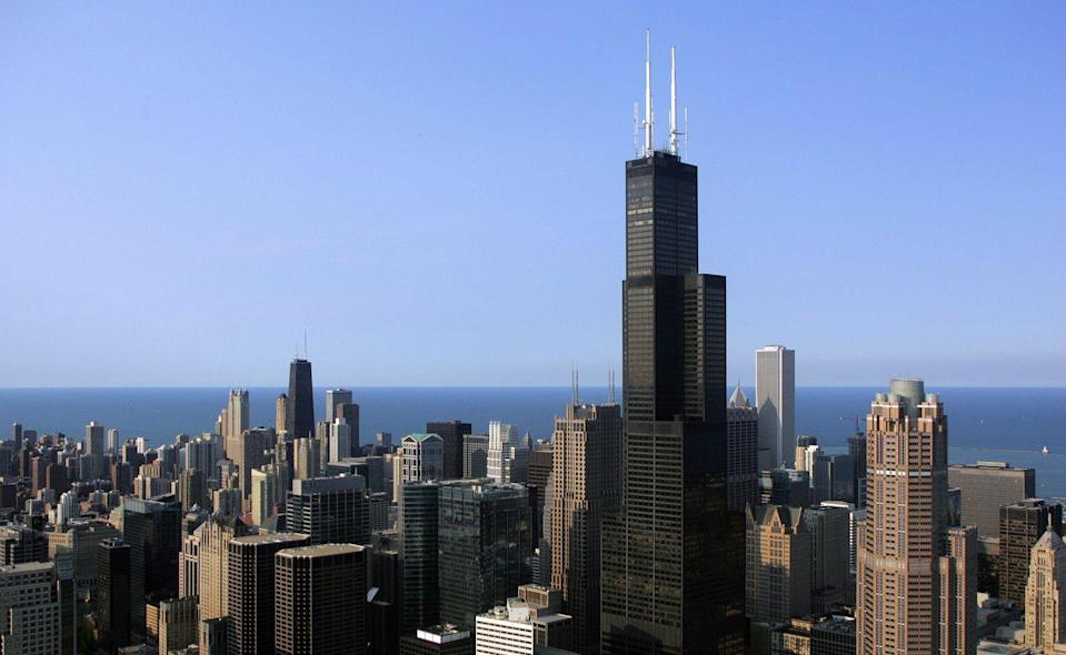 "<p>Opened as the Sears Tower in 1973, the 110-story, 1,450-foot-tall structure outshined New York's World Trade Center as the tallest in the world. The Sears Tower, now known as the Willis Tower, followed <a href=""http://khan.princeton.edu/khanSears.html"" rel=""nofollow noopener"" target=""_blank"" data-ylk=""slk:Fazlur Khan's structural tube design"" class=""link rapid-noclick-resp"">Fazlur Khan's structural tube design</a> (he was also the architect on this project), allowing for taller skyscrapers with more stability, while not relying on them tapering at the top. Khan's development gave the world one of its tallest structures for decades—<a href=""https://www.willistower.com/history-and-facts"" rel=""nofollow noopener"" target=""_blank"" data-ylk=""slk:the Sears Tower was the world's tallest until 1998"" class=""link rapid-noclick-resp"">the Sears Tower was the world's tallest until 1998</a>—and provided the backbone for even further development.</p>"