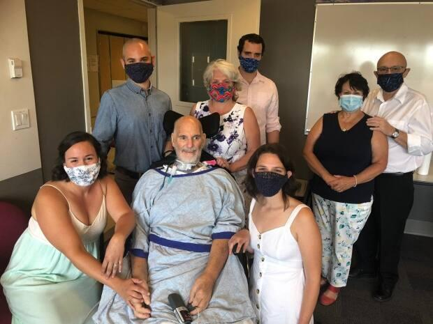 Behrmann's family held a wedding ceremony inside the Richmond Hospital while he was a patient there.