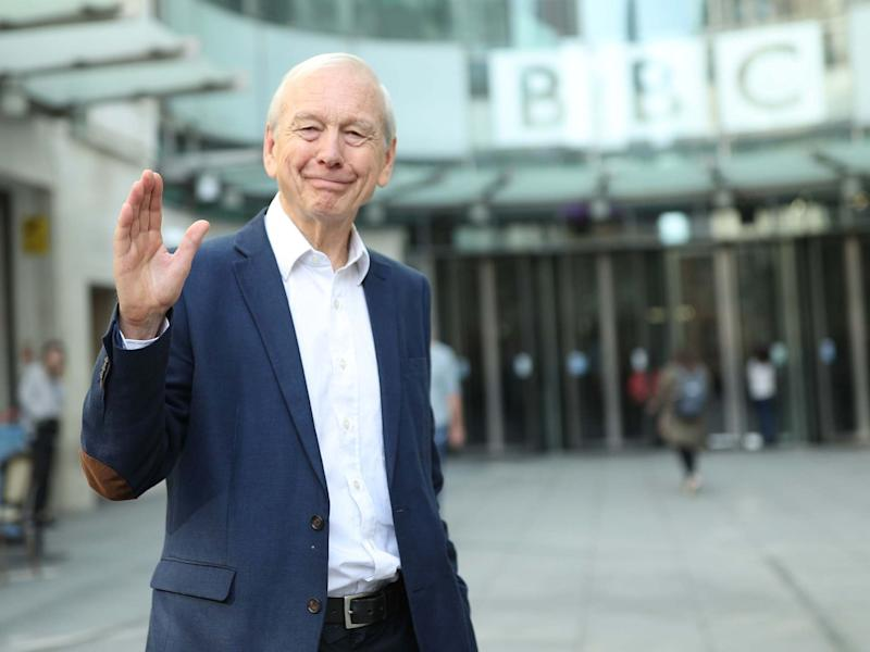 The broadcaster leaves New Broadcasting House after presenting his final 'Today' show on Thursday: PA