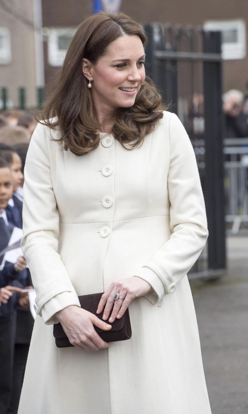 The Duchess of Cambridge was on a visit to a primary school in Oxford. Photo: Getty Images