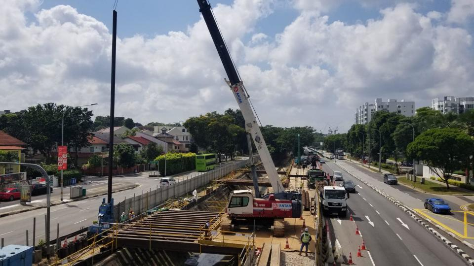 Drainage improvement project at Dunearn Road. (PHOTO: Facebook/Public Utilities Board)